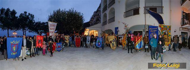 Smotra karnevalskih zastava u Mošćeničkoj Dragi