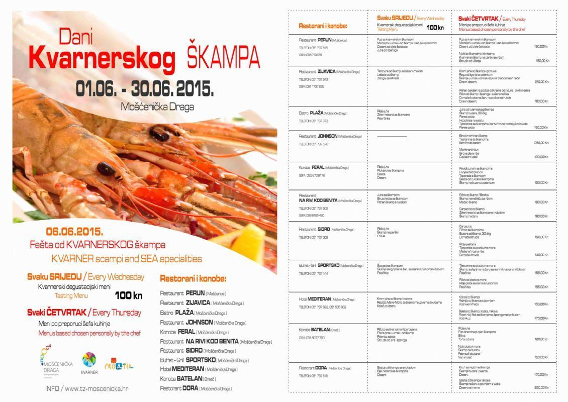 Days of Kvarner scampi