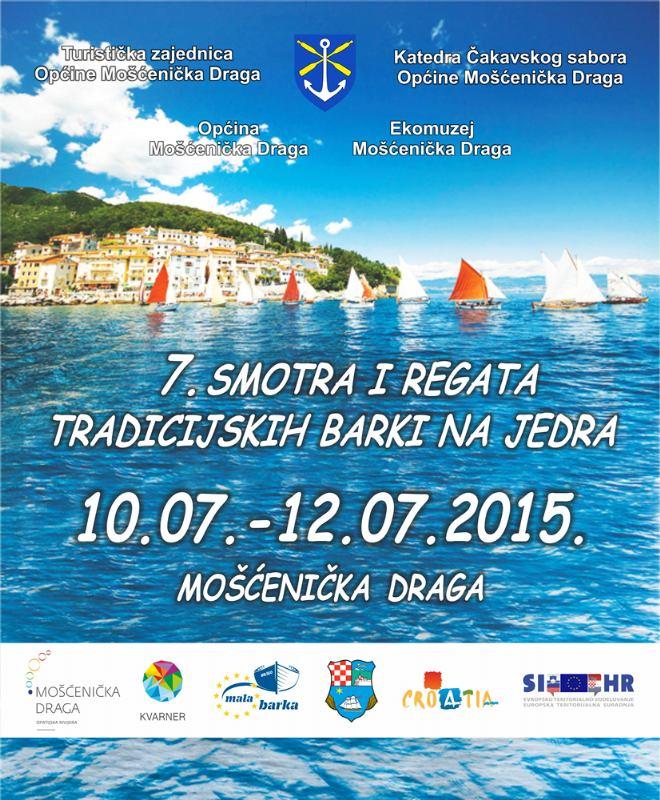7. smotra i regata tradicijskih barki na jedra U Mošćeničkoj Dragi