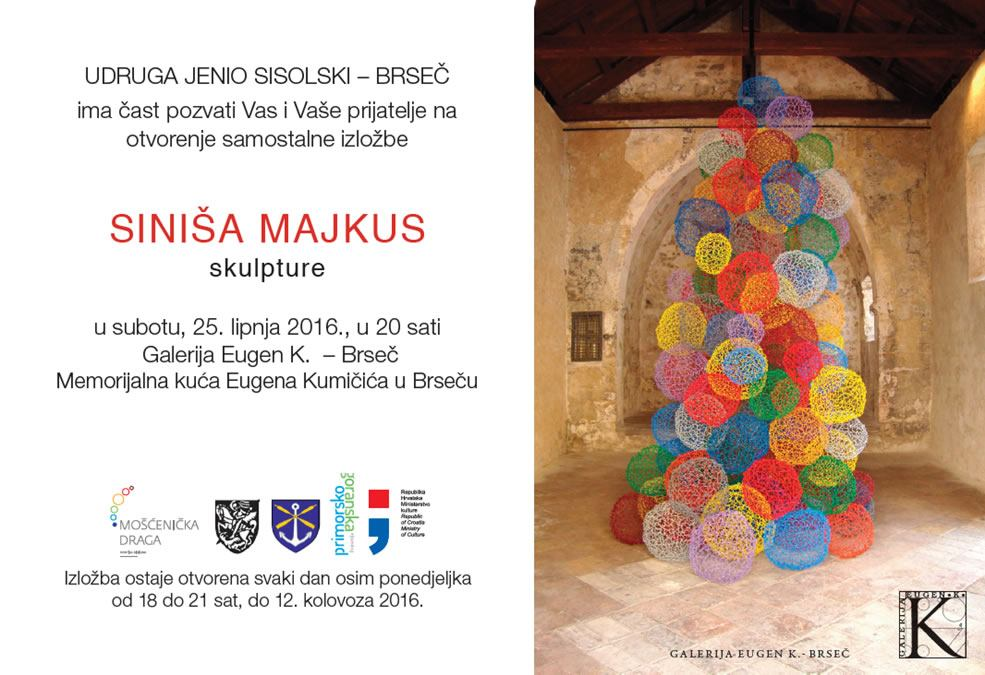 Otvorenje samostalne izložbe Siniše Majkusa u Brseču