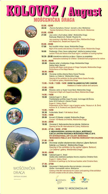 Događanja u kolovozu