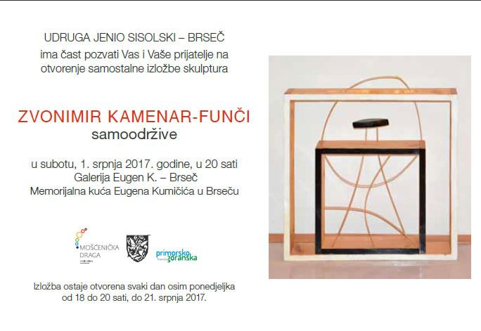 Otvorenje samostalne izložbe Zvonimira Kamenara u Brseču