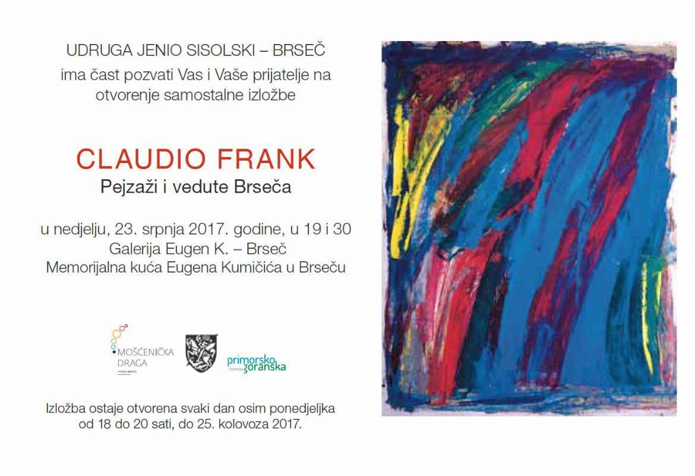 Otvorenje samostalne izložbe Claudia Franka u Brseču