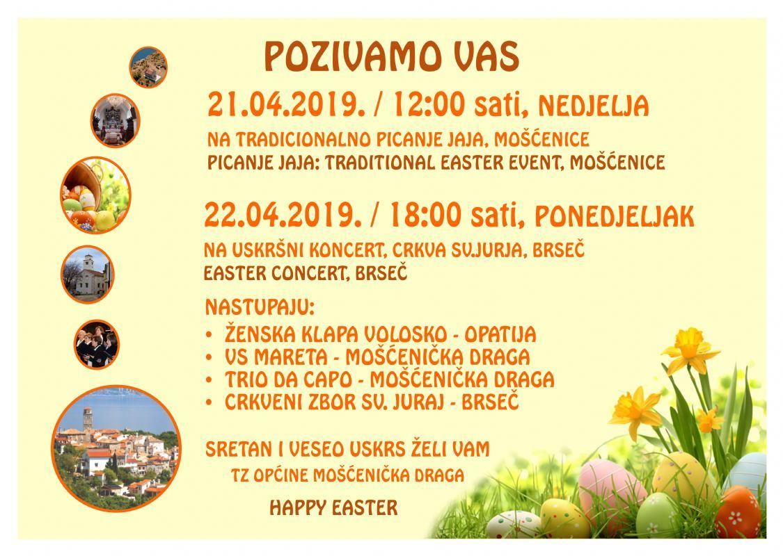 Događanja za Uskrs