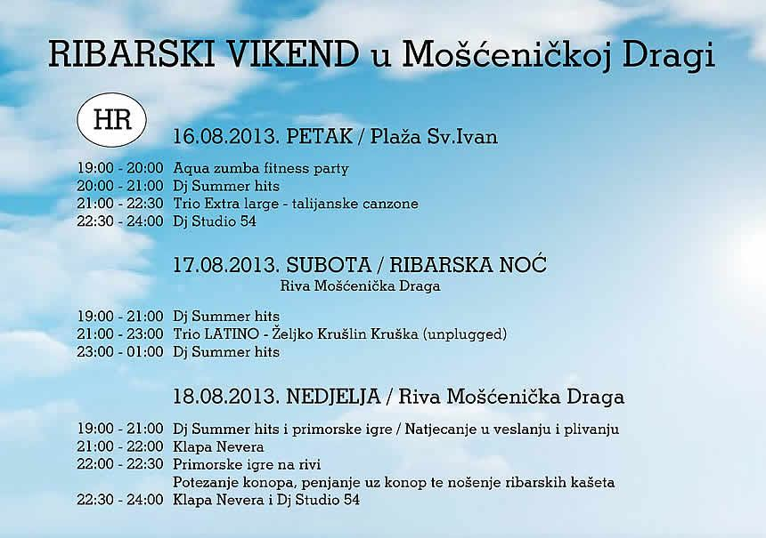 FISH WEEKEND in Mošćenička Draga