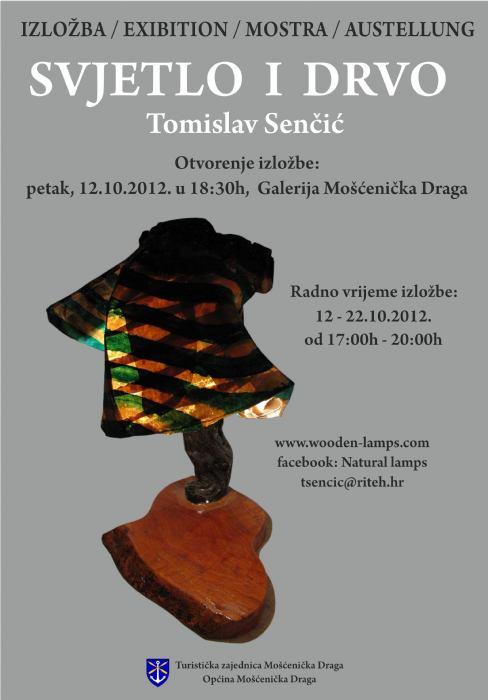 Izložba Svjetlo i drvo Tomislav Senčić