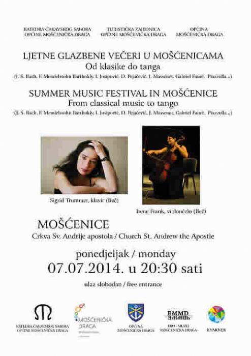Ljetne glazbene ve�eri u Mo��enicama