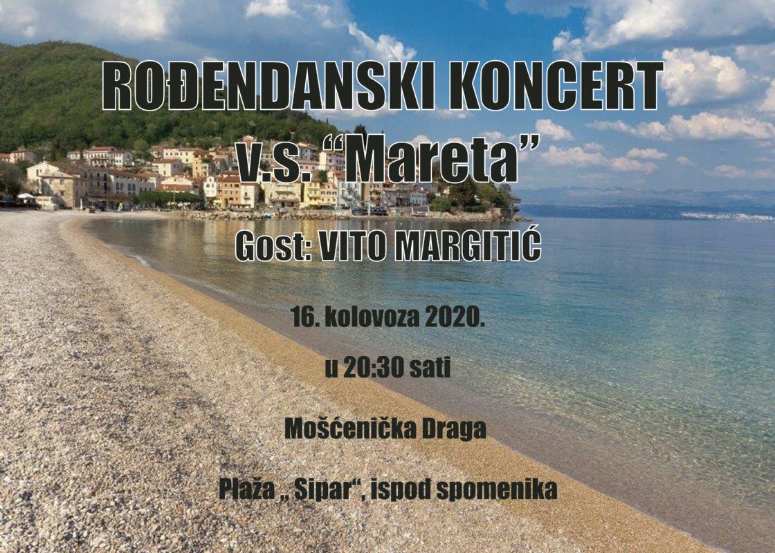 Rođendanski koncert v.s. Mareta, gost: Vito Margitić