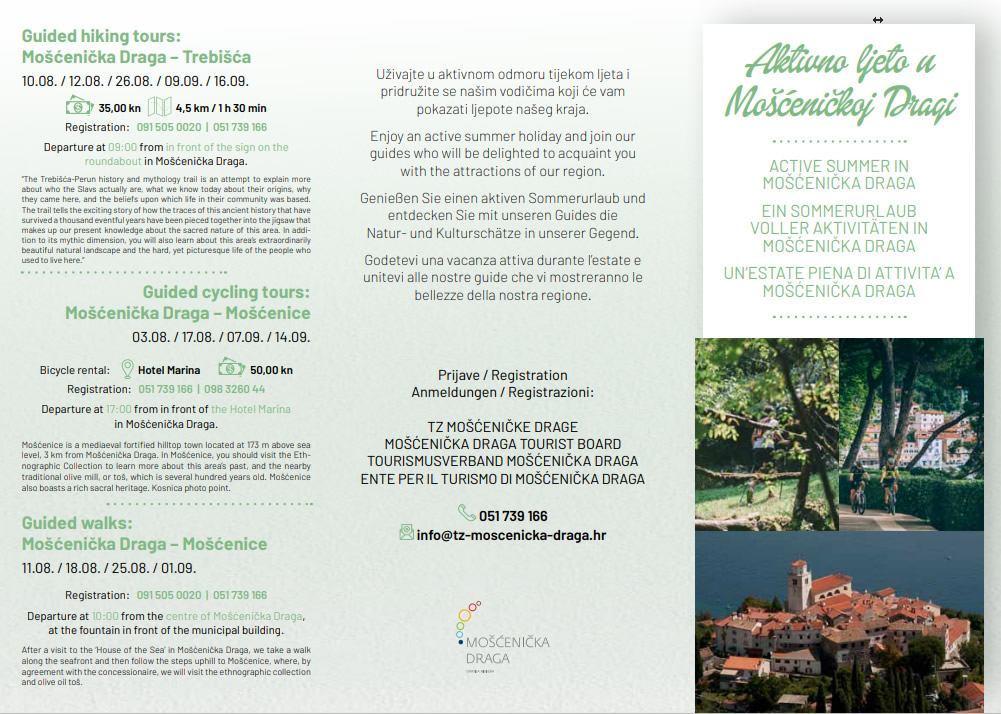 Aktivno ljeto u Mošćeničkoj Dragi
