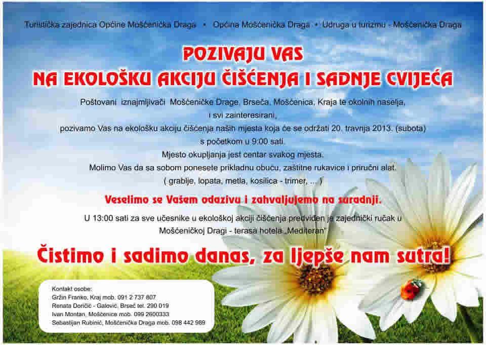 Ekološka akcija čišćenja i sadnje cvijeća